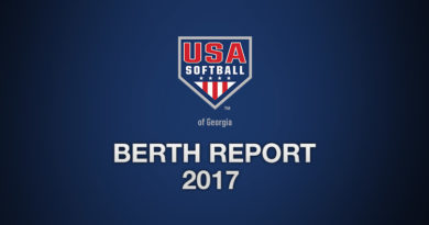 2017 USA Softball of Georgia Berth Report