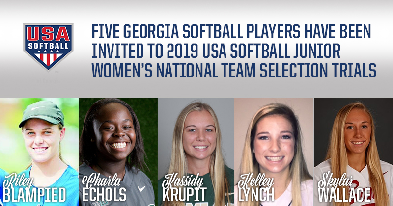 Five Georgia Softball Players have been invited to 2019 USA